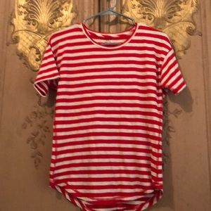 Madewell Red And white striped cotton tee sz S